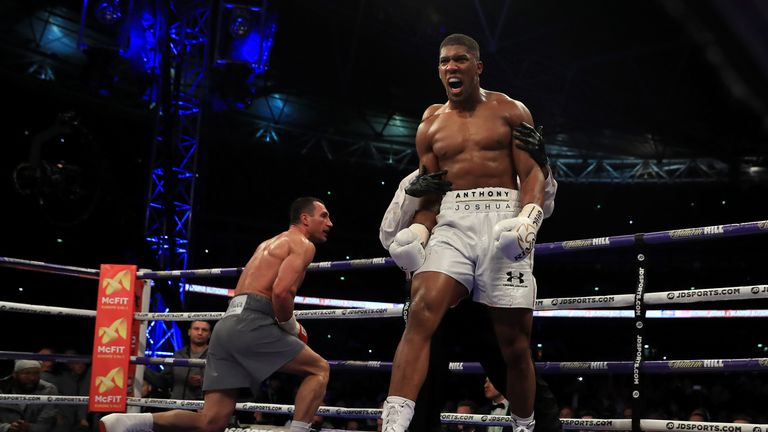 Wladimir Klitschko and Anthony Joshua both climbed off the canvas