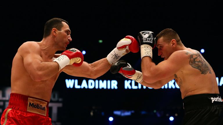 Wach (right) challenged Wladimir Klitschko for the world heavyweight championship in 2012