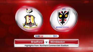 Bradford 3-0 AFC Wimbledon
