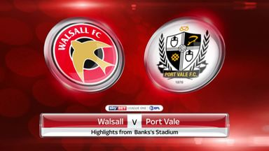 Walsall 0-1 Port Vale