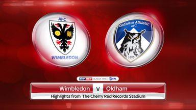 AFC Wimbledon 0-0 Oldham