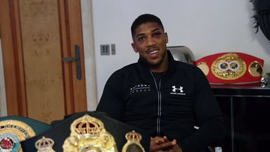 Anthony Joshua is targeting a showdown with domestic foe Tyson Fury (pic: Lawrence Lustig)