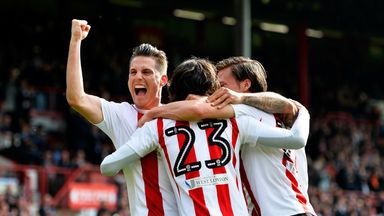 Jota celebrates scoring the second Brentford goal