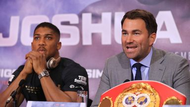 Promoter Eddie Hearn hopes a deal can be reached for Anthony Joshua to face Joseph Parker in a unification clash