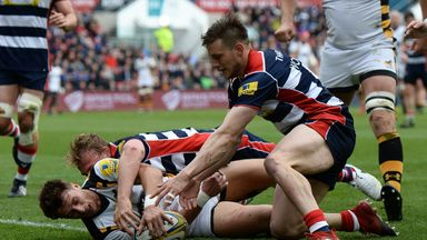 Josh Bassett scored for Wasps in the comprehensive victory