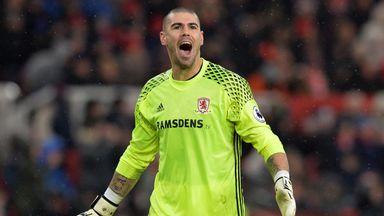Victor Valdes started 28 Premier League games for Middlesbrough