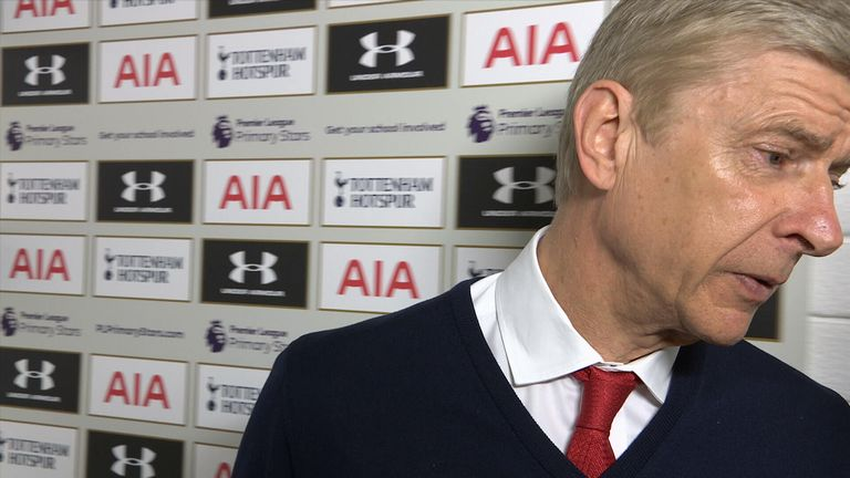 Arsenal manager Arsene Wenger walked out of his post-match interview with Sky Sports