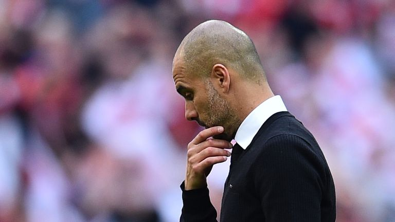 Pep Guardiola misses out on the chance to win silverware in his debut season as Manchester City manager
