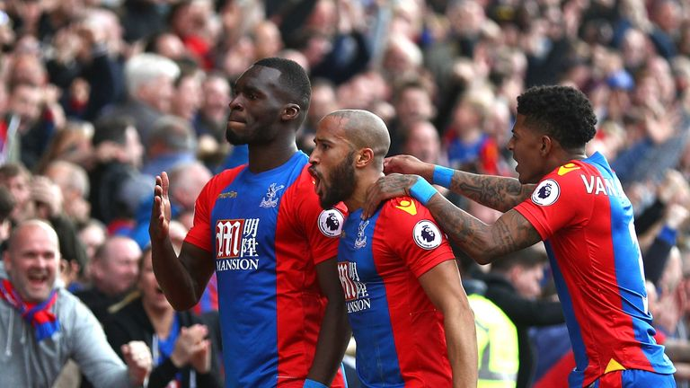 Christian Benteke scored the equaliser for Crystal Palace against Leicester