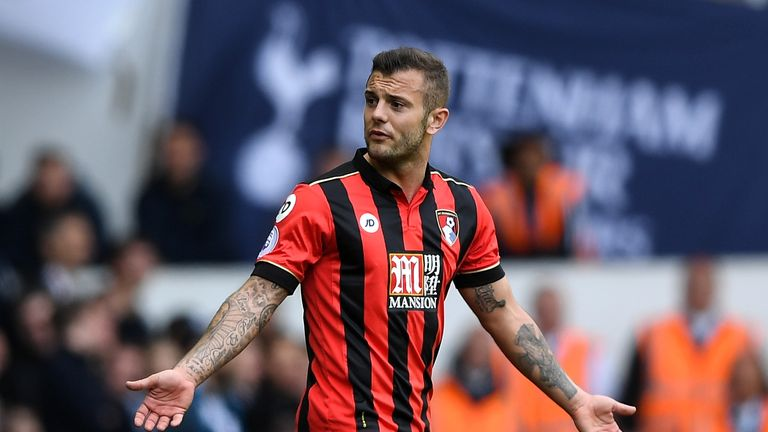 LONDON, ENGLAND - APRIL 15:  Jack Wilshere of AFC Bournemouth reacts during the Premier League match between Tottenham Hotspur and AFC Bournemouth at White