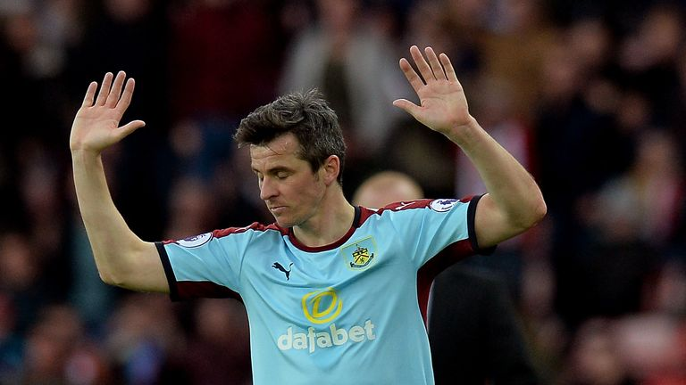 SUNDERLAND, ENGLAND - MARCH 18: Joey Barton of Burnley reacts during the Premier League match between Sunderland and Burnley at Stadium of Light on March 1