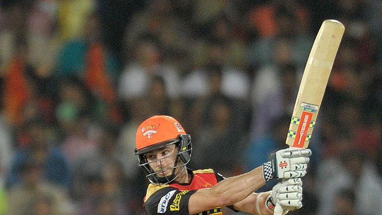 Sunrisers Hyderabad Kane Williamson plays a shot during the 2016 Indian Premier League (IPL) Twenty20 cricket match between Sunrisers Hyderabad and Royal C