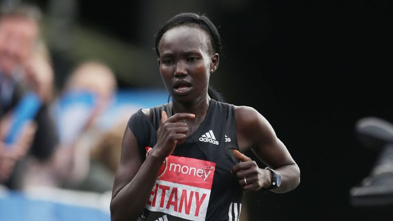 Kenya's Mary Keitany won the women's race in the London Marathon