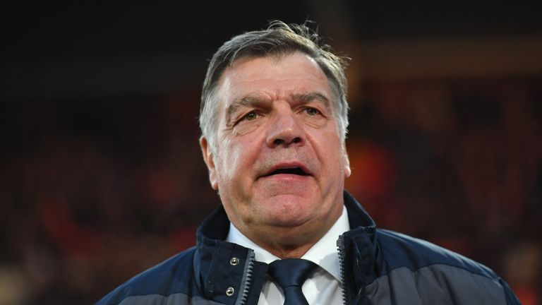 Sam Allardyce arrives for the clash with Spurs