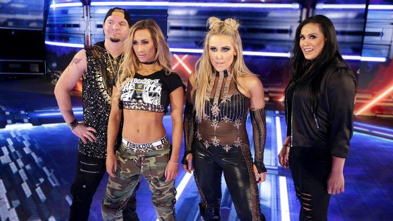 Ellsworth, Carmella, Natalya and Tamina stood tall after beating down Charlottle Flair and Naomi.