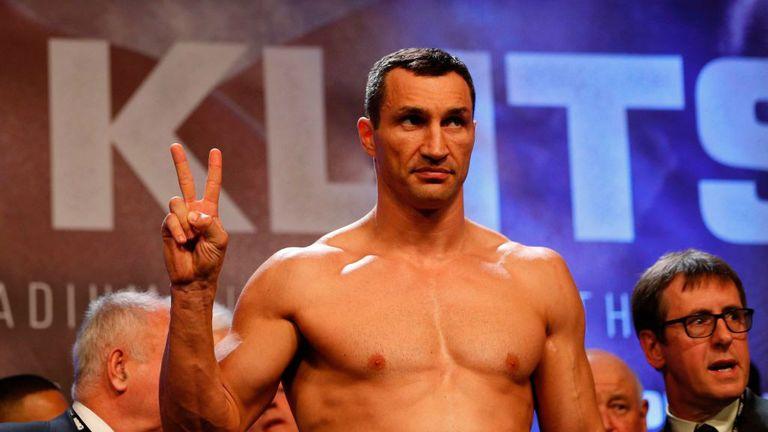 Ukrainian boxer Wladimir Klitschko