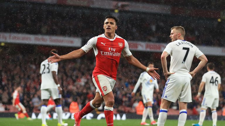 Alexis Sanchez needs at least a hat-trick against Everton on the final day