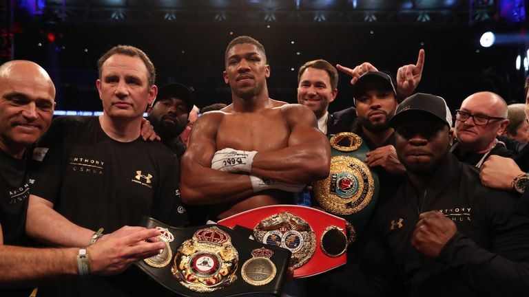 Joshua holds the WBA 'super' and IBF belts after 11th-round stoppage win