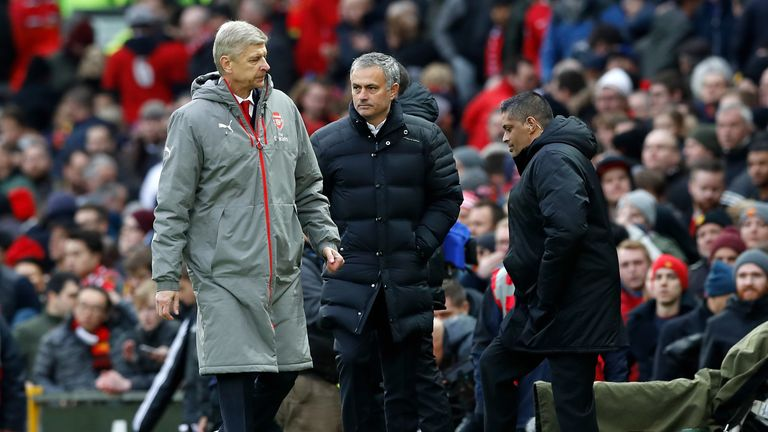 Arsene Wenger (left) and Jose Mourinho (right) go head to head on Sunday