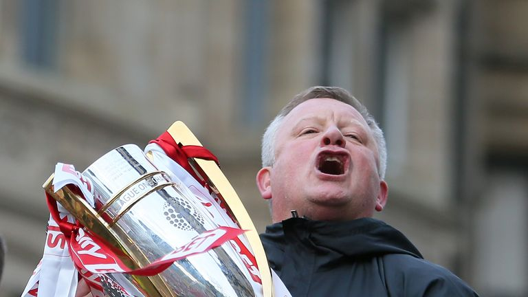 Chris Wilder led the Blades to the Sky Bet League One title in his first season at the club