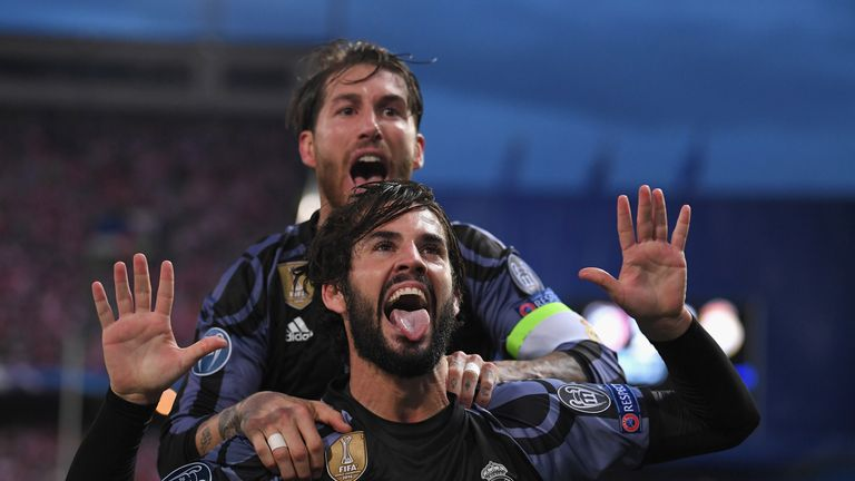 Isco's goal just before half-time took the sting out of Atletico Madrid's spirited comeback against Real Madrid