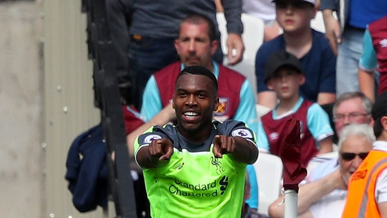 Daniel Sturridge opened the scoring in Liverpool's 4-0 win at West Ham last weekend