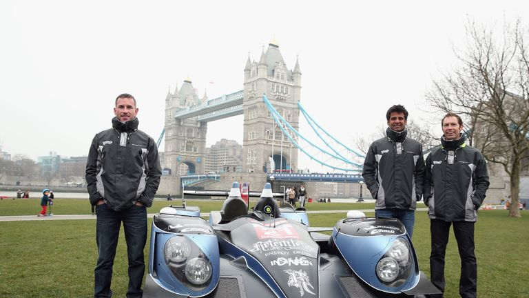 Watts on a London photo call ahead of the 2013 FIA World Endurance Championship