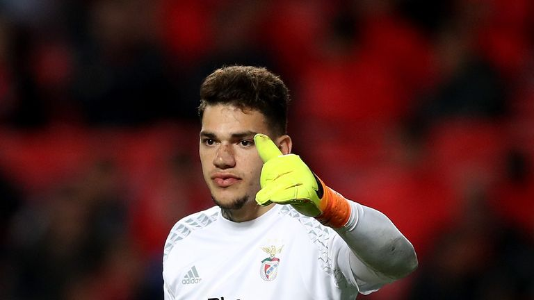 Manchester City signed Benfica goalkeeper Ederson for £34.9m this month