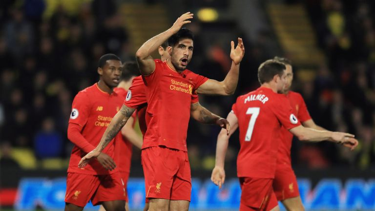 Emre Can strikes at Watford to strengthen Liverpool hold on top four