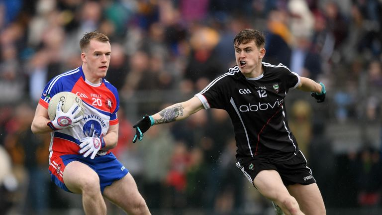 Kyle Cawley (R) grabbed Sligo's crucial goal in the Bronx in the Connacht championship opener