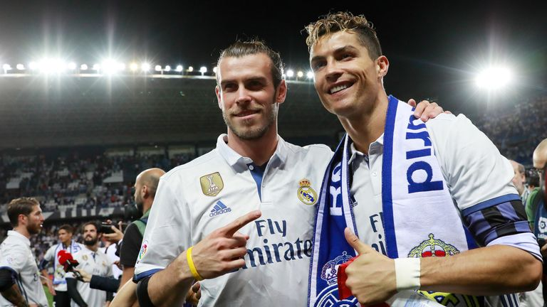 Real Madrid's Cristiano Ronaldo and Gareth Bale both make the top 50