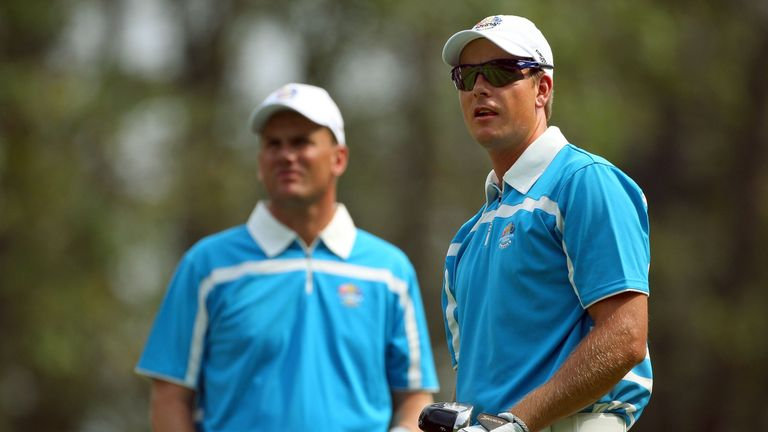 Stenson (right) and Karlsson registered a combined 2.5points at the K Club