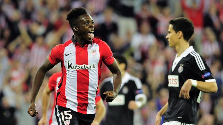 Athletic's Iñaki Williams was born to African parents in BIlbao