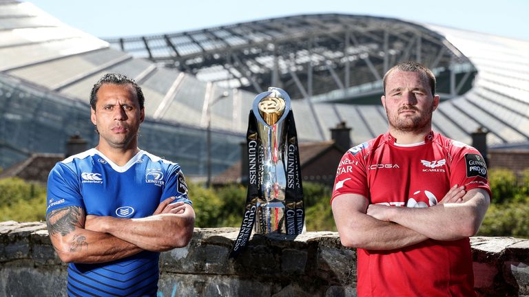 Isa Nacewa (Leinster, left) and Ken Owens (Scarlets) will lead their teams as they face off this weekend
