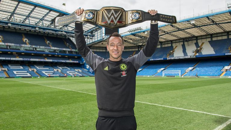 John Terry was sent the customised WWE belt by Triple H