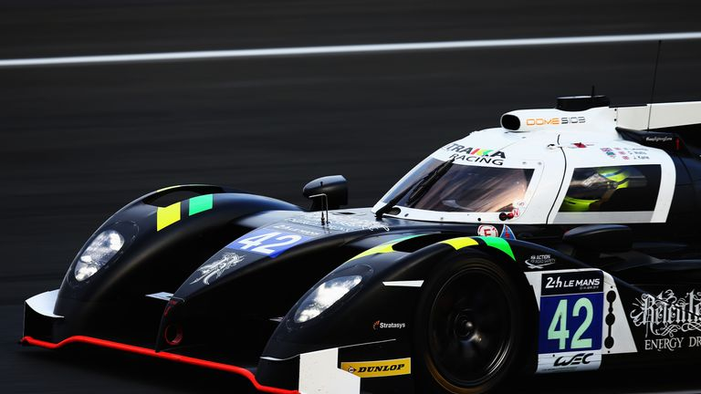 Watts in the Strakka Racing Dome Nissan during qualifying for the Le Mans 24 Hour race in June 2015