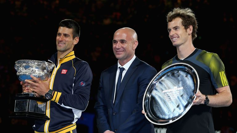 Andy Murray admitted he was surprised by Novak Djokovic's appointment of Andre Agassi as coach for the French Open