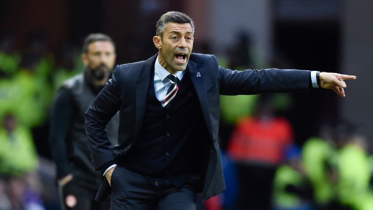Rangers manager Pedro Caixinha says he is not thinking about Aberdeen next season