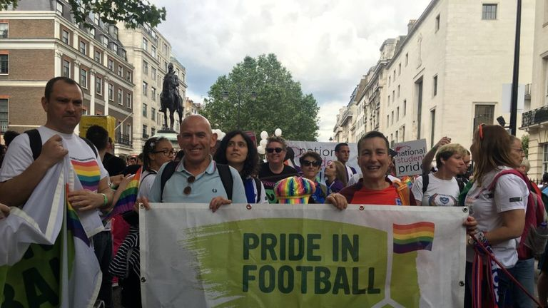 Over 40 LGBT supporter groups are now affiliated to Pride in Football