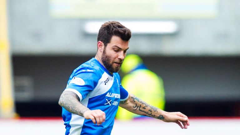 Defender Richard Foster in action for St Johnstone