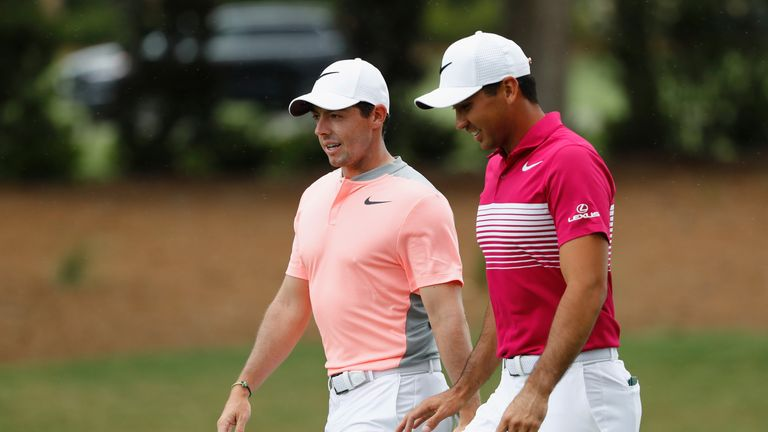 Rory McIlroy (left) and Jason Day tee off on Thursday at 2.09pm local time