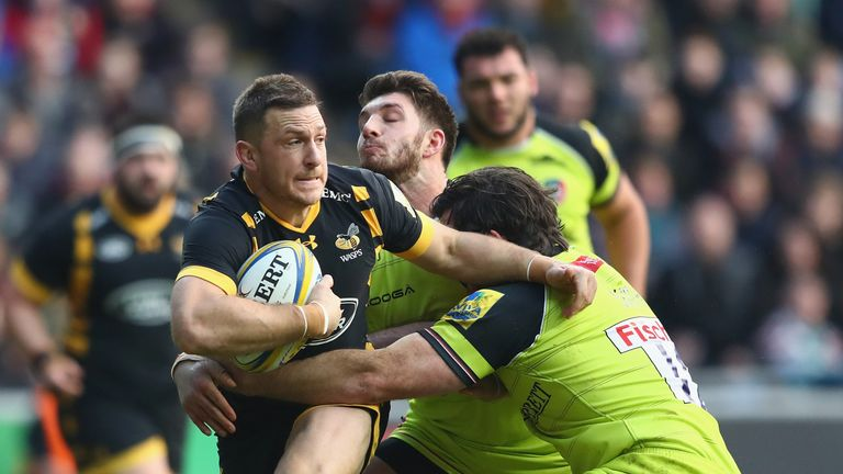 Premiership player of the year Jimmy Gopperth starts at inside centre against Leicester