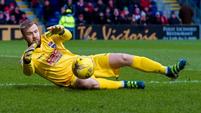 Goalkeeper Scott Fox in action for Ross County