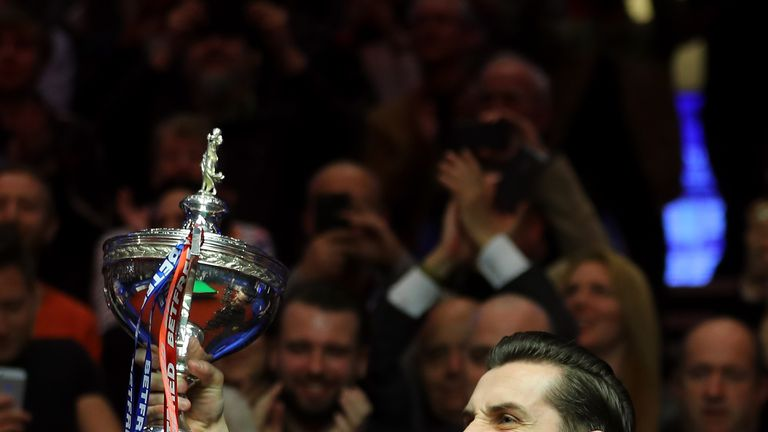 Mark Selby became just the fourth snooker player to successfully defend the World Championship title