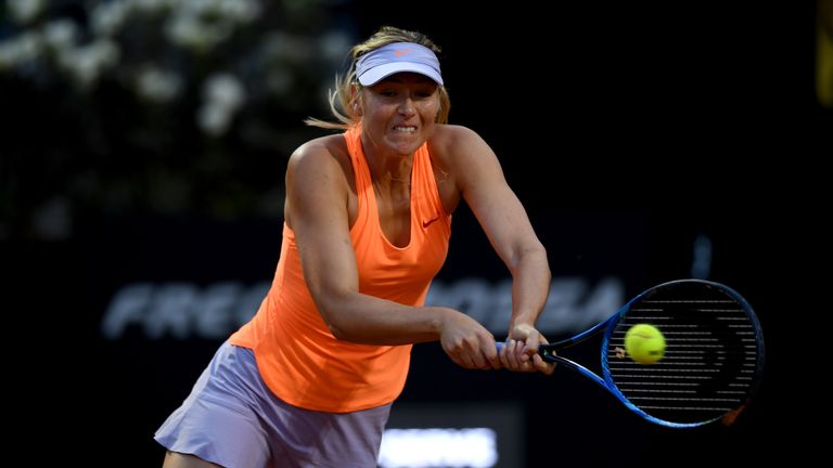 Sharapova was forced to withdraw from her clash with Mirjana Lucic-Baroni on Tuesday