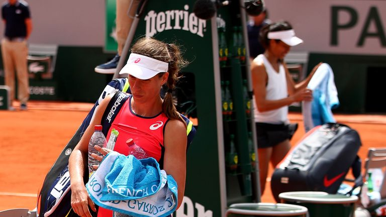 Konta lost to Hsieh Su-wei in last year's first round at the French Open