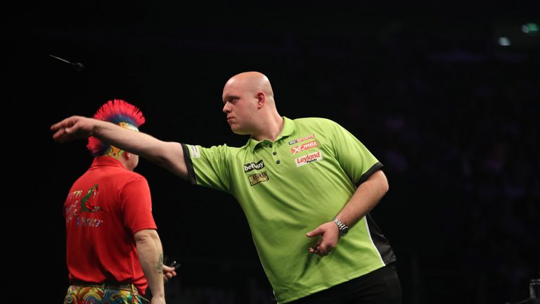 Van Gerwen battled back from the brink to claim the Premier League title
