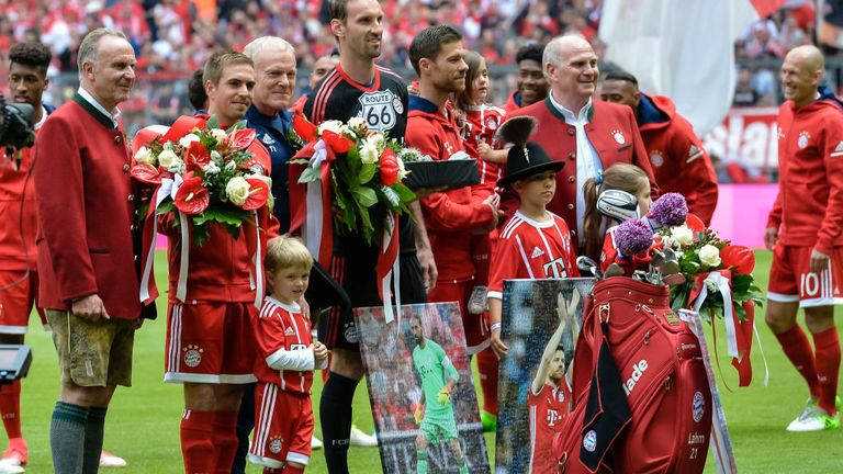 Alonso, Tom Starke and Philipp Lahm were honoured before the game