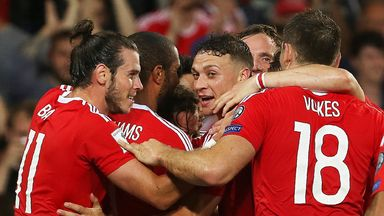 Gareth Bale (L) and his Wales team-mates remain 13th in the world rankings, just ahead of England