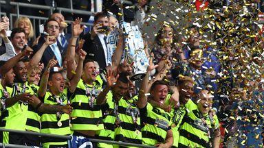 Huddersfield celebrate winning the play-off final